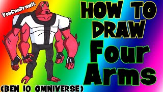 How To Draw Four Arms from Ben 10 Omniverse ✎ YouCanDrawIt ツ 1080p HD