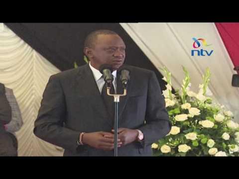 President Kenyatta's speech at Governor Gachagua's burial