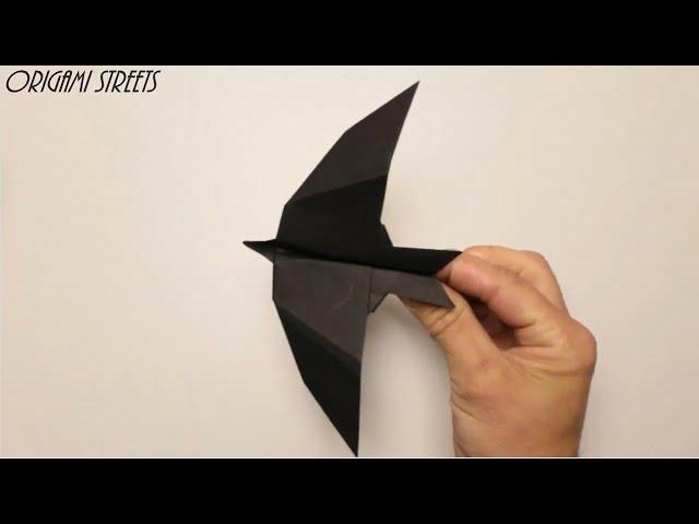 Как сделать самолёт из бумаги. Оригами самолёт-ласточка. Летает!