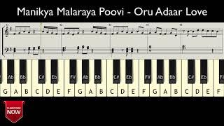 Manikya Malaraya Poovi - Oru Adaar Love ( HOW TO PLAY ) MUSIC NOTES