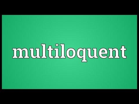 Header of multiloquent