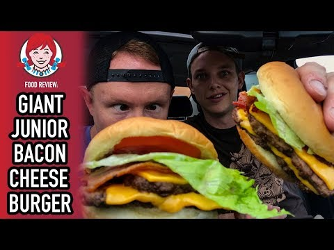 Wendy's Giant Junior Bacon Cheeseburger Food Review | Season 4, Episode 31