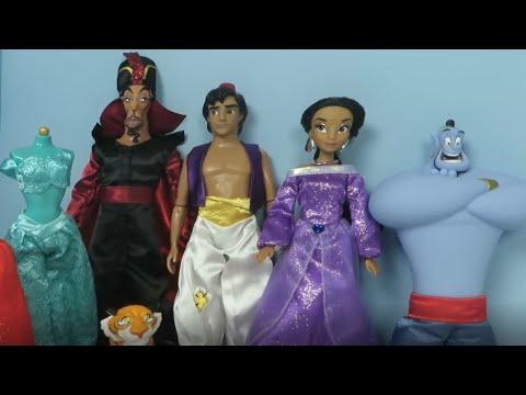 New Disney Princess Jasmine Aladdin Deluxe Gift Set Jafar Genie Abu Raja