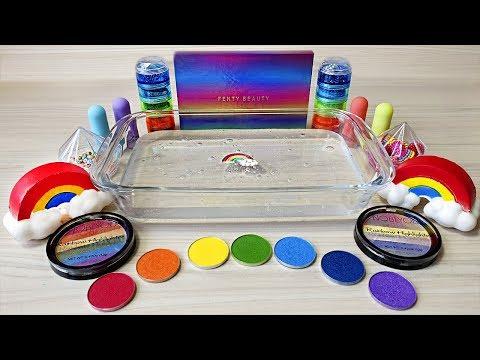 """Rainbow"" Series #20 Season ""Theme"" / Mixing eyeshadow and glitter into Clear Slime"