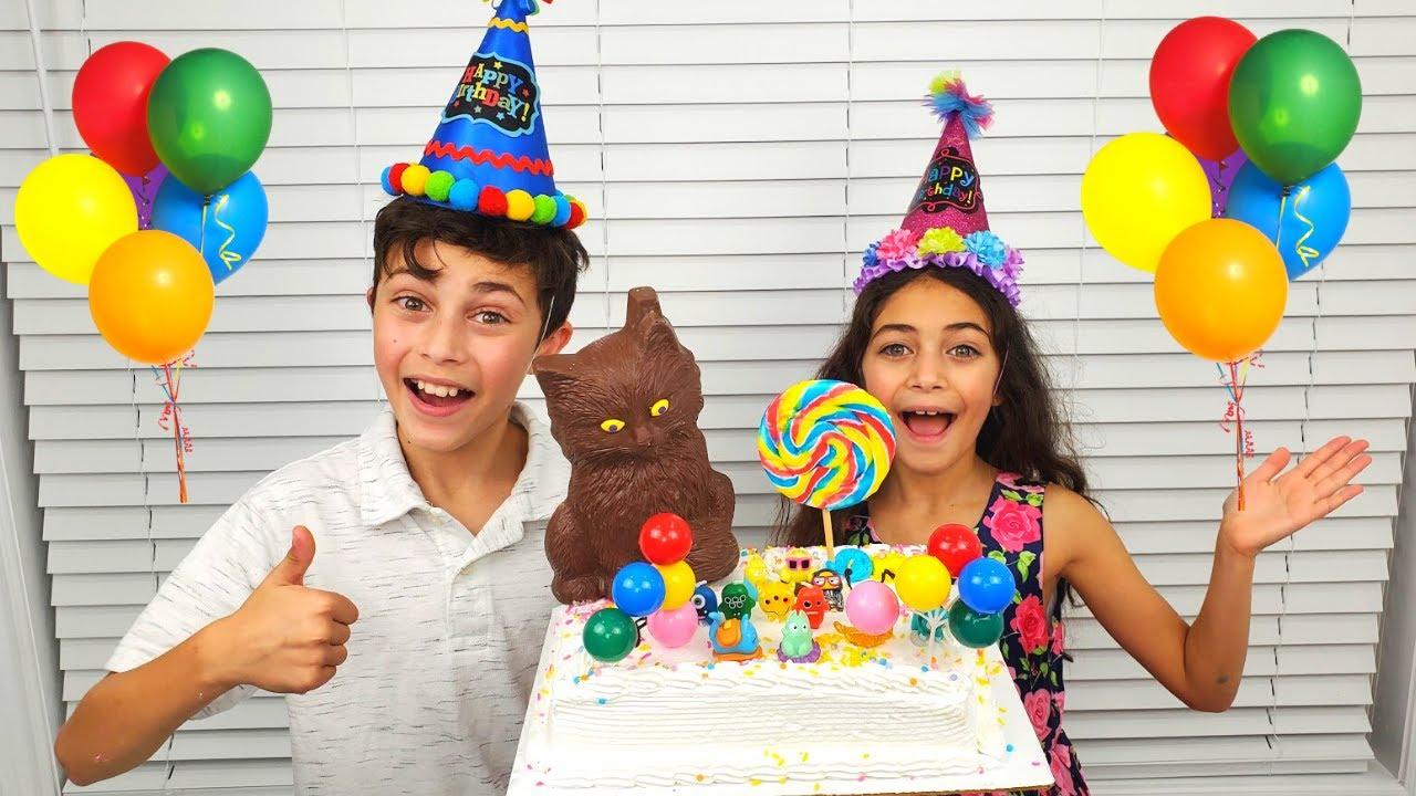 Heidi and Zidane Happy Birthday Cake for Cat story