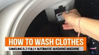 How to Wash Clothes in Fully Automatic Washing Machine | Samsung 6.2 kg Top Load