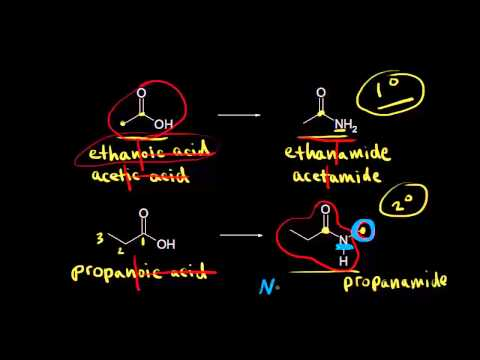 Nomenclature and properties of amides | Organic chemistry | Khan Academy