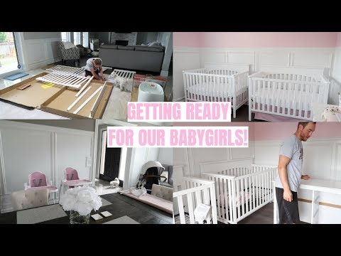 GETTING READY FOR OUR BABYGIRLS!👼🏻👼🏻 SETTING UP THE NURSERY!💕 -SLMissGlamVlogs