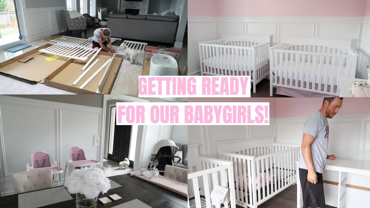 GETTING READY FOR OUR BABYGIRLS!👼🏻👼🏻 SETTING UP THE NURSERY!💕 -SLMissGlamVlogs - YouTube