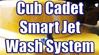 Using the Cub Cadet Smart Jet Wash System (LTX 1050 Deck Washing System in Action)