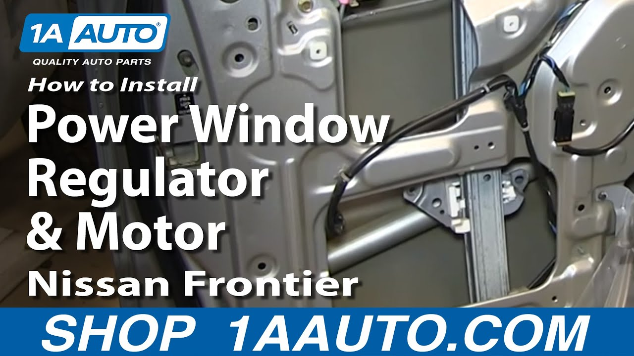 How To Install Fix Rear Power Window Regulator And Motor