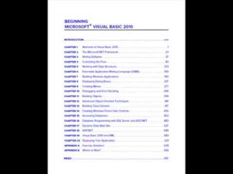 Visual Basic 2010 Ebook