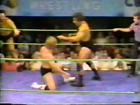 Wrestling Title Match - Cowboy Ron Bass & Brad Armstrong vs. Angelo Mosca & Outlaw Bobby Duncam