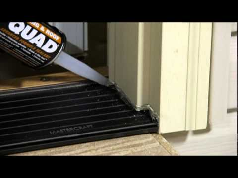 Proper Sill Caulking Of A Mastercraft® Exterior Door