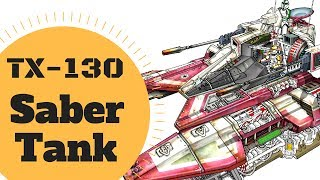 Coolest Republic Vehicle? - TX-130 SABER CLASS TANK Lore - Star Wars Canon & Legends Explained