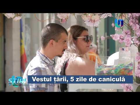 TeleU: Vestul țării, 5 zile de caniculă