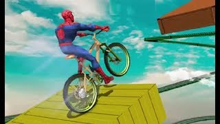 Superhero BMX Space Rider Game Walkthrough | BMX Games