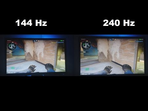 144 Hz vs 240 Hz monitory - porównanie w CS GO