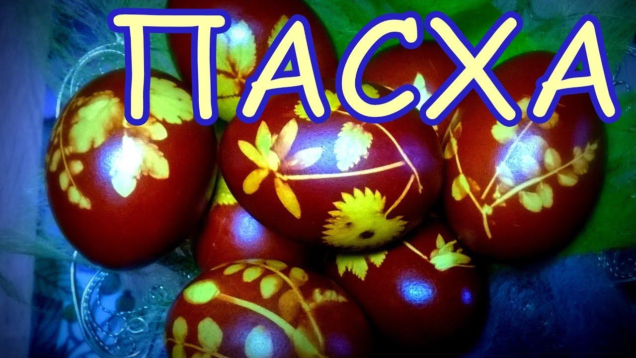 Яйца на Пасху. Луковая шелуха. - YouTube