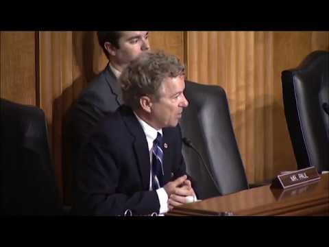 """Sen. Paul: Proposed AUMF """"Flips the Constitution on Its Head"""" - May 16, 2018"""