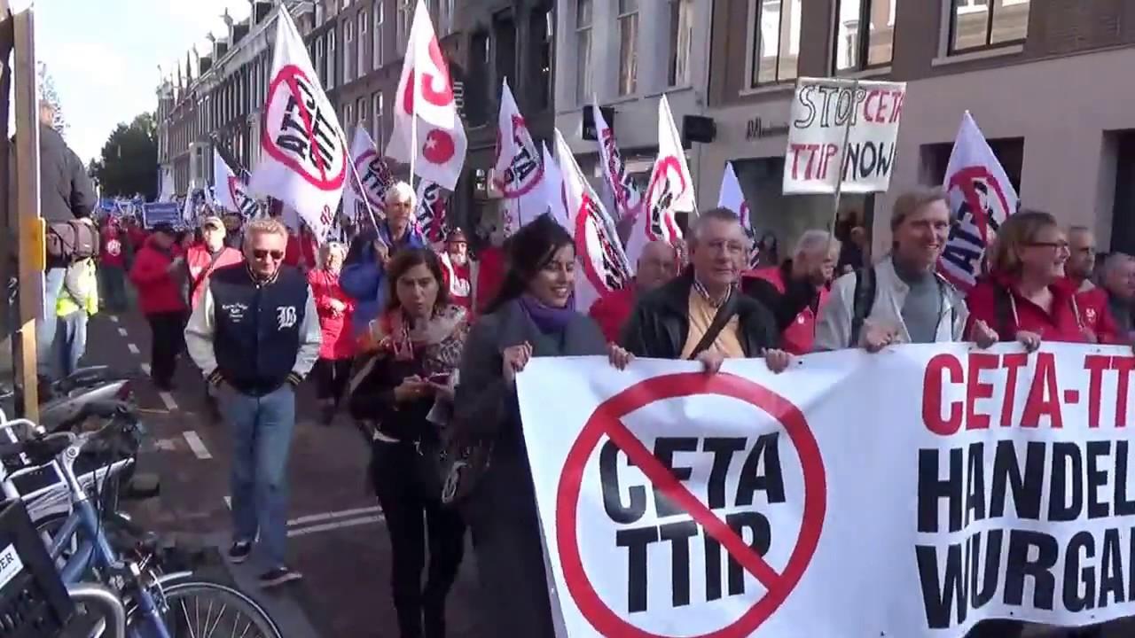 Afbeeldingsresultaat voor ceta protest amsterdam