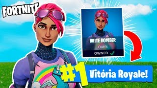FORTNITE-I BOUGHT A VERY BEAUTIFUL SKIN AND I WON FIRST!
