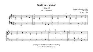 Handel : Sarabande from Suite in D minor, HWV 437