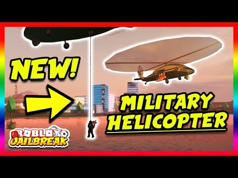 New Military Helicopter New Escape Route Roblox Jailbreak New