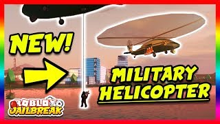 NEW MILITARY HELICOPTER! NEW ESCAPE ROUTE! (Roblox Jailbreak New Update) | 🔴 Roblox Jailbreak LIVE