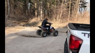 150 cc ATV SPEED TEST!! (Donuts and Offroading)
