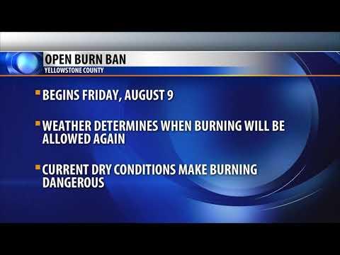 Yellowstone County announces burn ban
