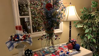 Memorial Day Decoration | Lets decorate for Memorial Day | Patriotic Decor | Episode18