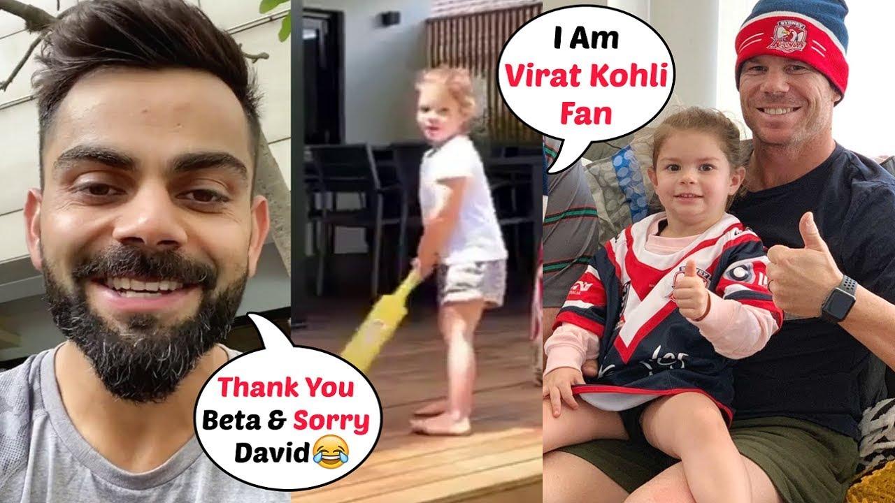 Download David Warner Daughter Is Virat Kohli Fan! Watch Video Now