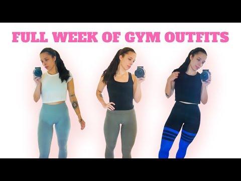 6 DAYS OF WORKOUT OUTFITS (Lululemon, Gymshark, Bombshell Sportswear)