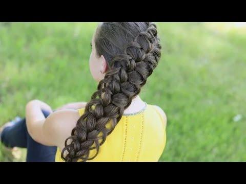 Как заплести ажурную косу