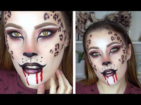 leopard cheetah halloween makeup tutorial