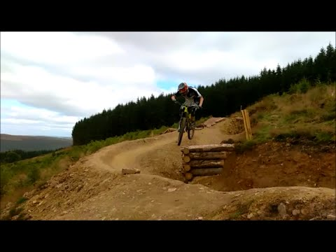 One way to ride the A470 at Bike Park Wales