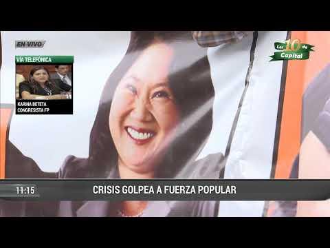 Karina Beteta tildó de traidora a Maritza García y a disidentes de Fuerza Popular