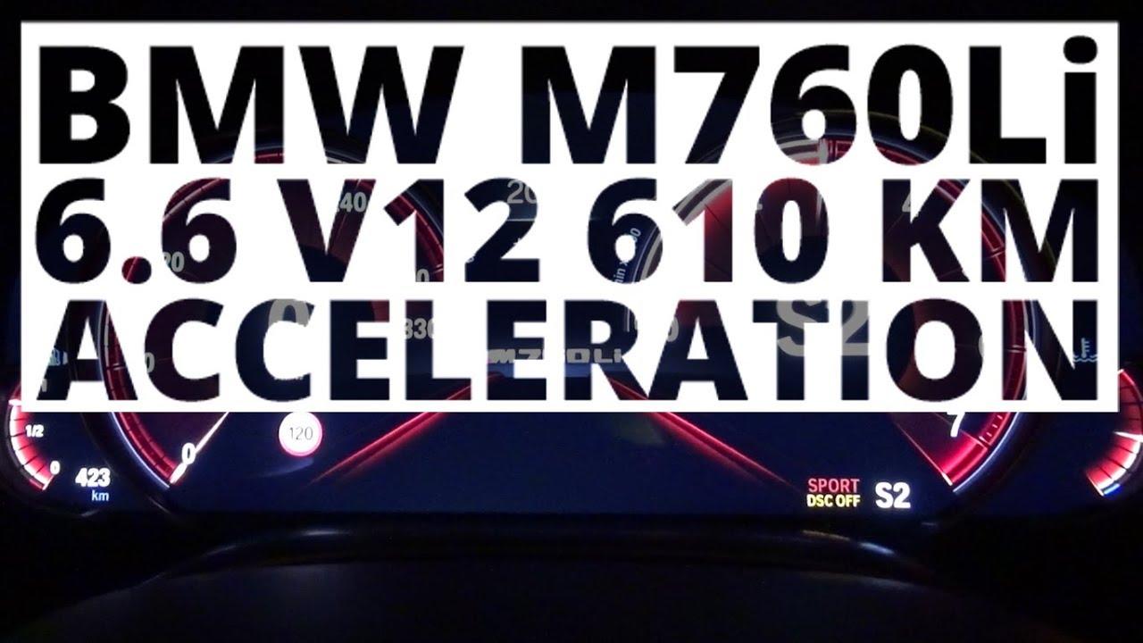 BMW M760Li 6.6 V12 610 KM (AT) – acceleration 0-100 km/h