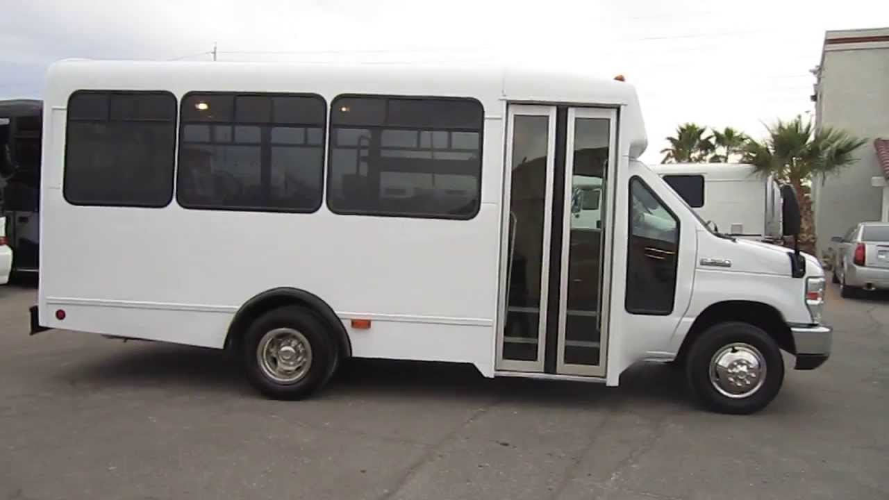 medium resolution of used shuttle bus 2008 ford e350 champion 13 passenger with interior luggage rack s70254 youtube