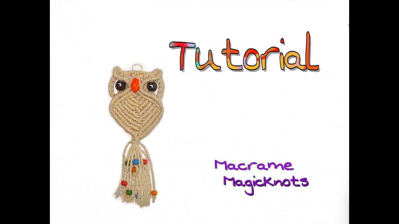 Macrame Owl tutorial | Makramee Eule | Búho | Макраме сова ...