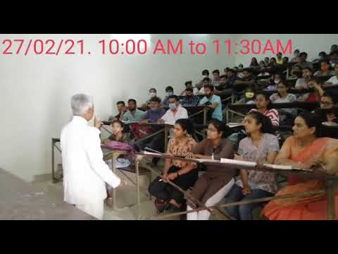 Conducted classes by Vice Chancellor Prof. Amarika Singh at MLSU 27/2/2021