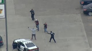 Watch: Man arrested after a bizarre police chase in Dallas, Texas