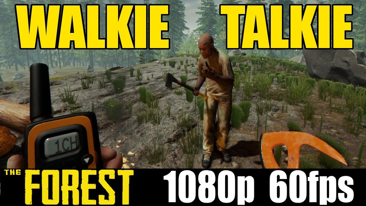 the forest how to use the walkie talkie