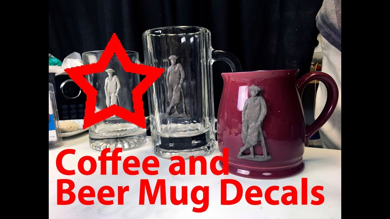 how to make your own coffee and beer mug decals with polymer clay