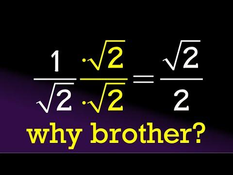 why rationalize the denominator? (HS algebra level)