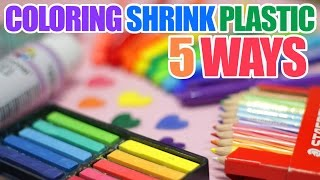[5 WAYS!] How to Color Shrink Plastic/Shrinky Dinks!