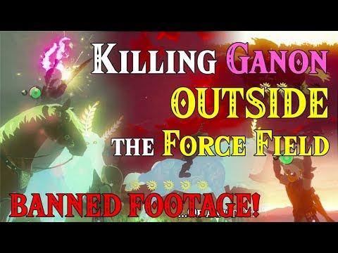 BIG FINALE?! Killing Ganon OUTSIDE Force Field! BANNED FOOTAGE! Fierce Deity Link FLA in Zelda BotW