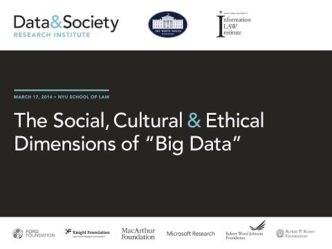"PLENARY - Social, Cultural & Ethical Dimensions of ""Big Data"""