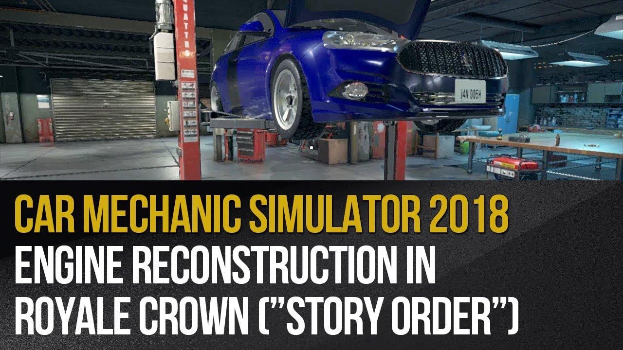 Zlecenie 24 Royale Crown Car Mechanic Simulator 2018 Solucja